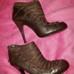 Carlos Santana brown booties boots 6M nwb